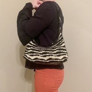 The Sak Zebra Knit Handbag